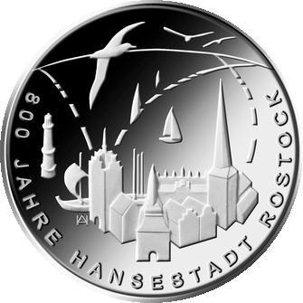 20 Euro 2018 800 Jahre Hansestadt Rostock Weka Münzhandels Gmbh